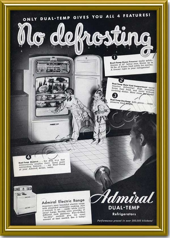 1948 Admiral Fridges  - framed preview