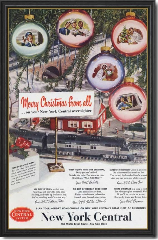 vintage 1950 New York Central advert