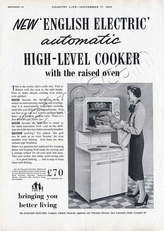 1955 English Electric cooker advert