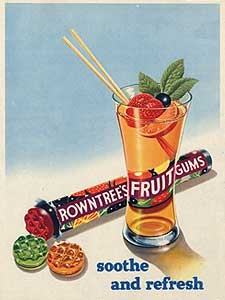 1954 Fruit Gums - Glass