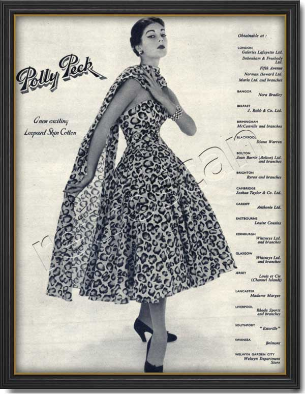 1953 vintage Polly Peck ad