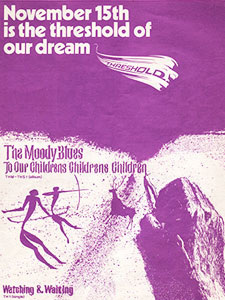 1969 The Moody Blues - vintage ad
