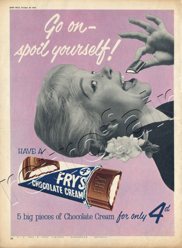 vintage Fry's Chocolate Cream advert