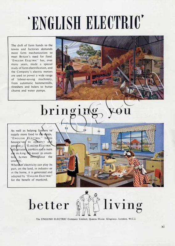 1953 vintage English Electric ad