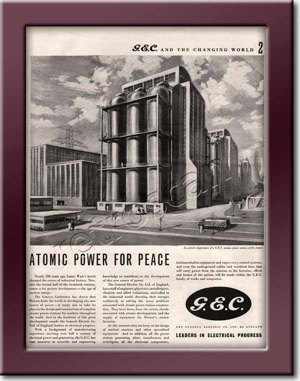 1955 General Electric Corporation (GEC) vintage ad
