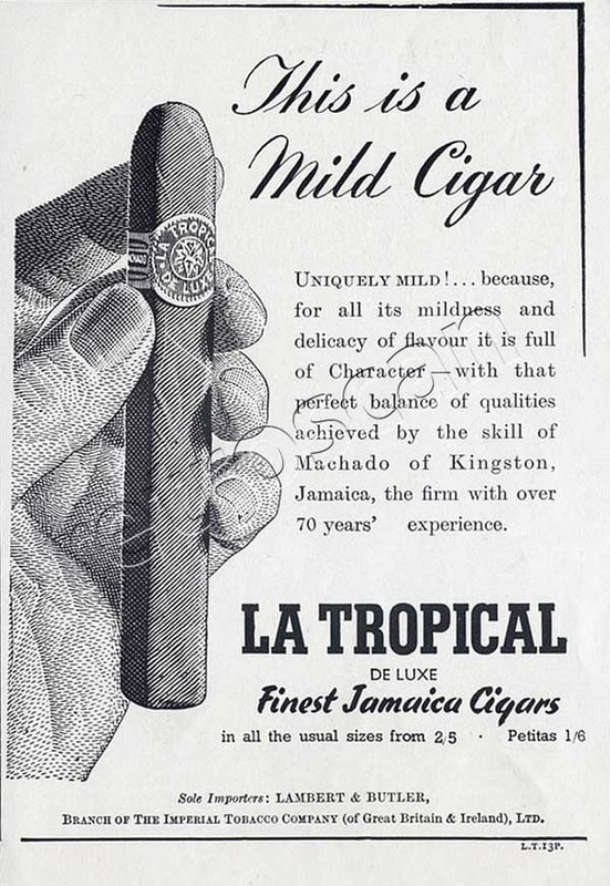 1950 La Tropical Jamaica Cigars