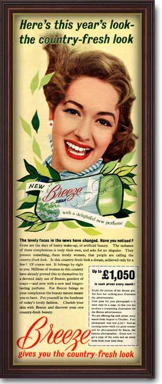 1955 Breeze Soap vintage advert