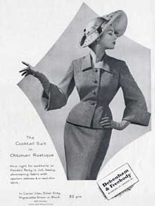 1952 Debenham and Freebody vintage fashion ad