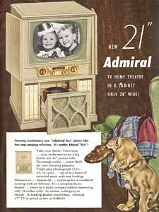 1952 Admiral TV