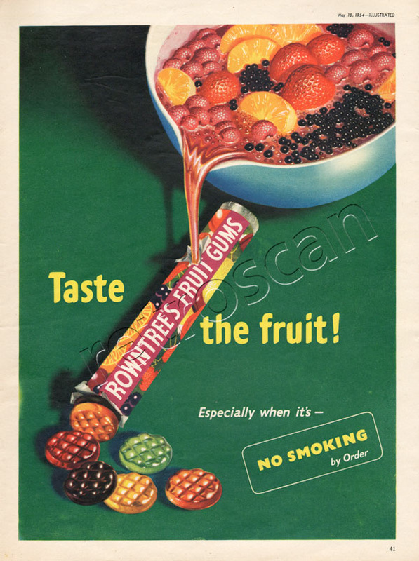 1954 Fruit Gums  vintage ad