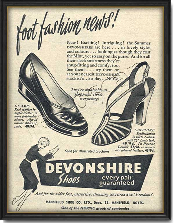 1953 Devonshire Shoes - framed preview