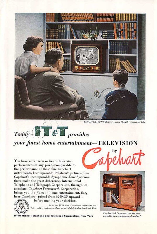 Capehart Televisions vintage ad