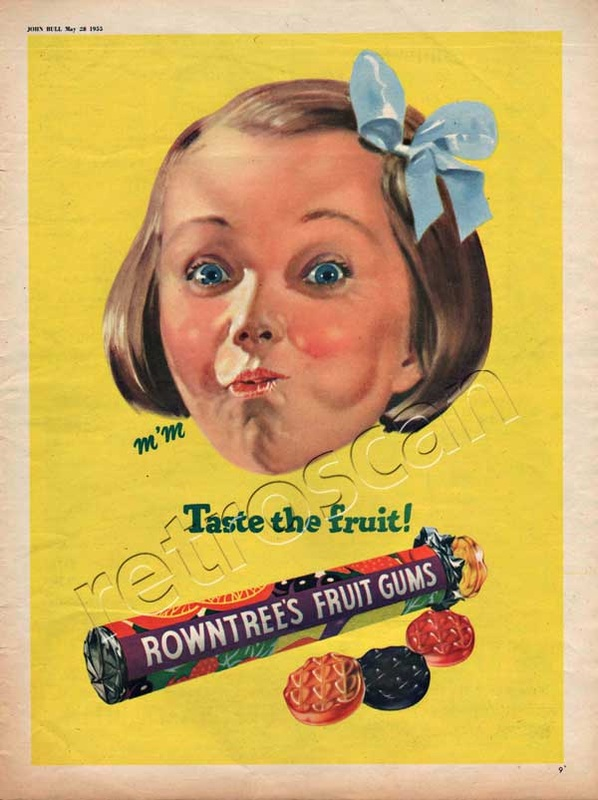 1955 Rowntree's Fruit Gums - unframed