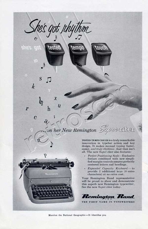 vintage 1953 Remington Rand ad