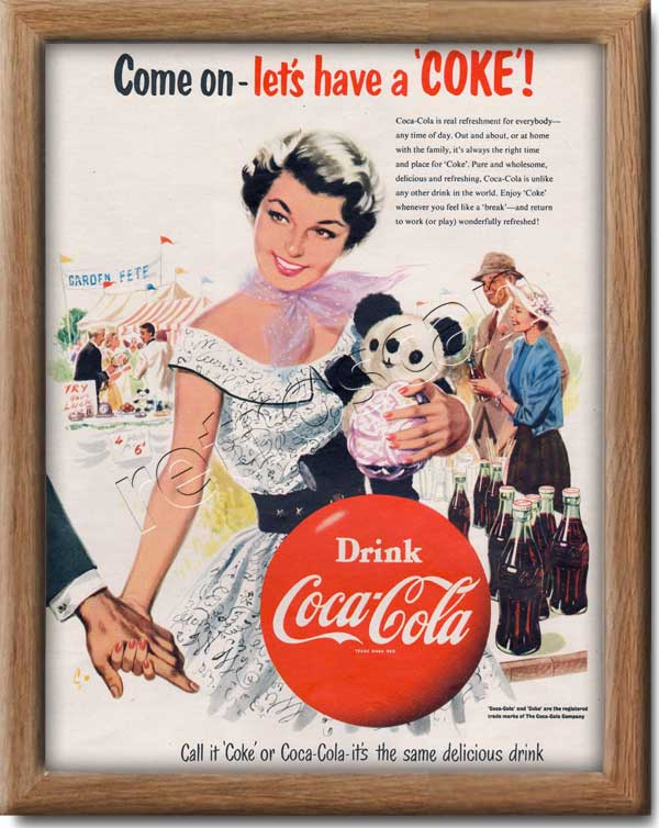 1954 Coca Cola Panda - framed preview
