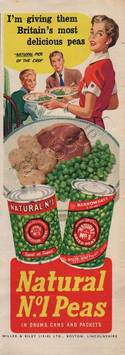 1954 Natural Peas  - unfarmed