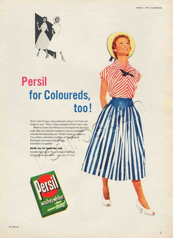 1954 Persil Washing Powder- unframed