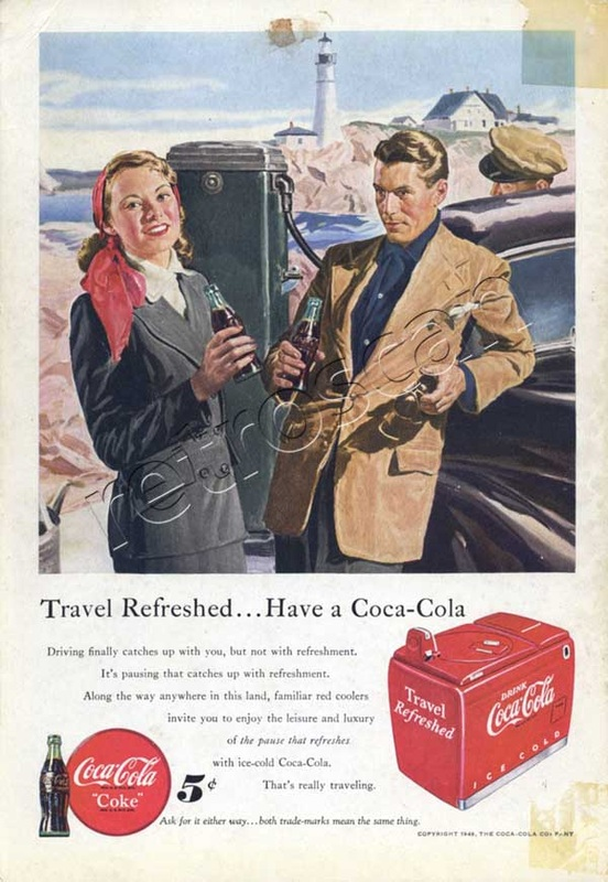 1949 Coca Cola Travel - unframed
