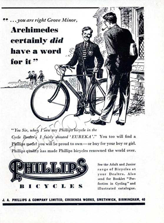 1952 Phillips Bicycles ad