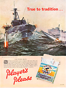1958 Player's Cigarettes - vintage ad