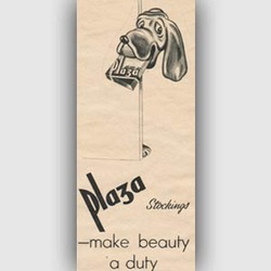 1951 Plaza Stockings vintage ad