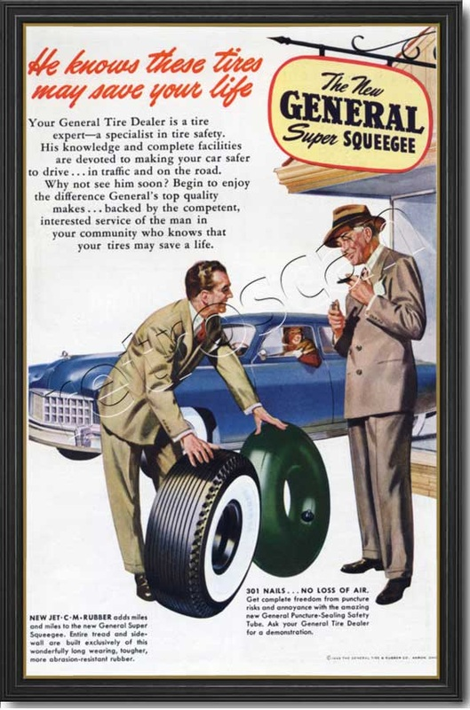 1949 General Tire Company  - framed preview