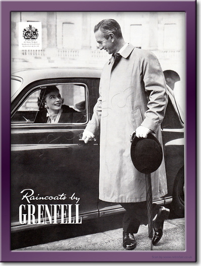 1958 Grenfell Raincoats - framed preview retro