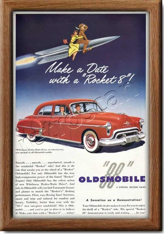 1950 Oldsmobile  vintage ad
