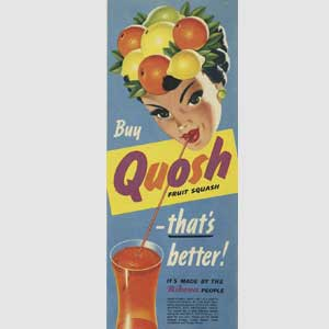 1955 Quosh Fruit Squash