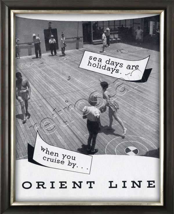 1953 Orient Line - framed preview