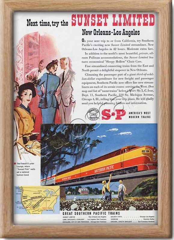1951 vintage Southern Pacific railroad