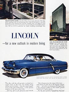 1952 Ford Lincoln - vintage ad
