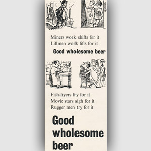 1954 Brewers' Society Vintage Ad