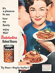 1955 Batchelors Baked Beans - vintage ad