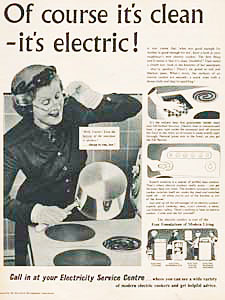 1955 Electricity Council - vintage ad