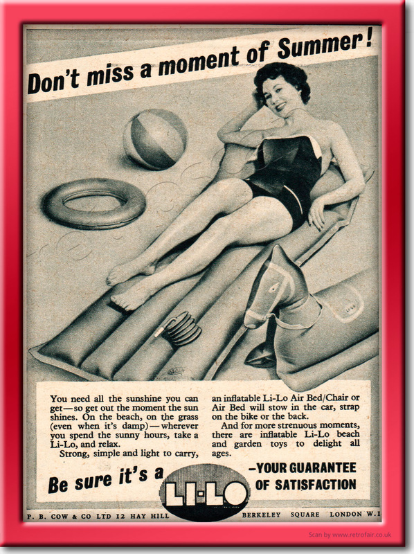 1955 Li-Lo Air Beds - framed preview vintage ad