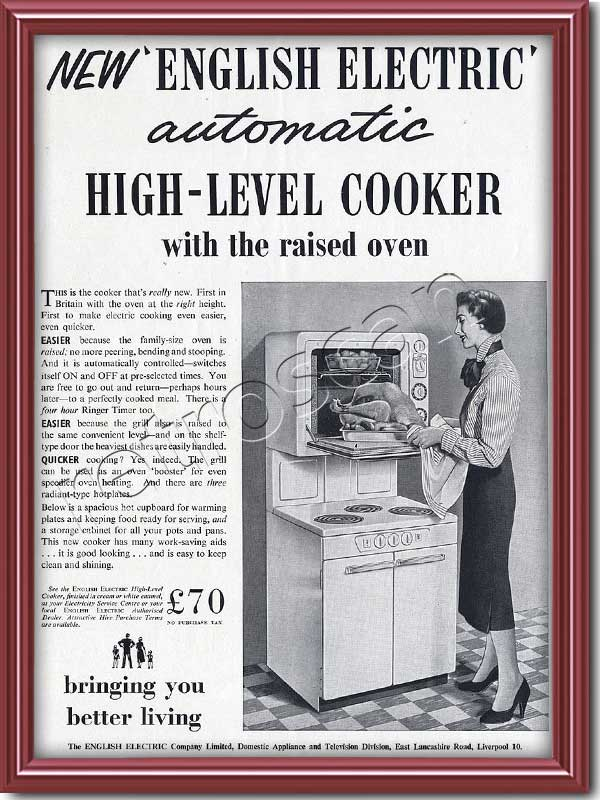 vintage 1955 English Electric  cooker