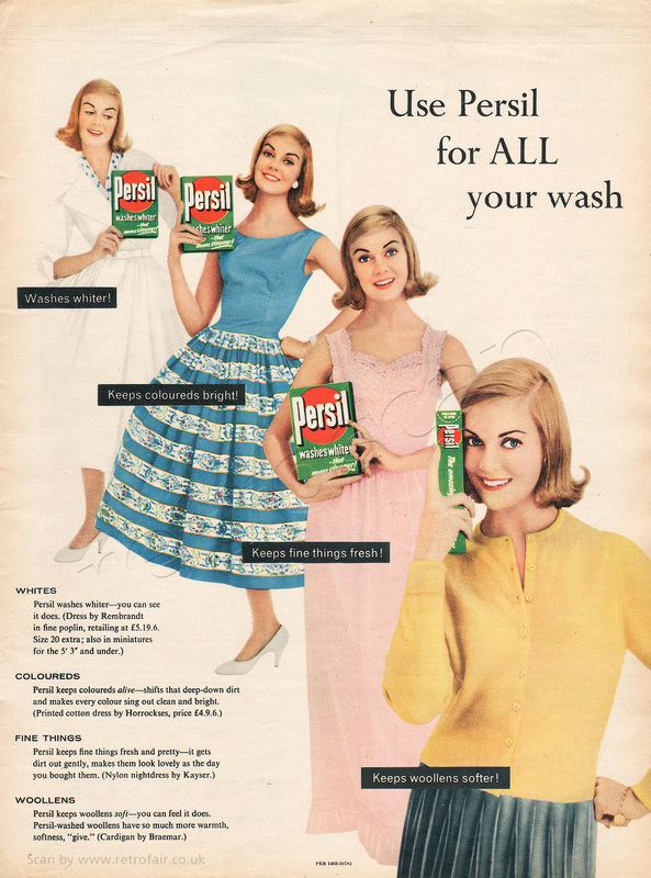 1958 Persil Washing Powder - unframed vintage ad