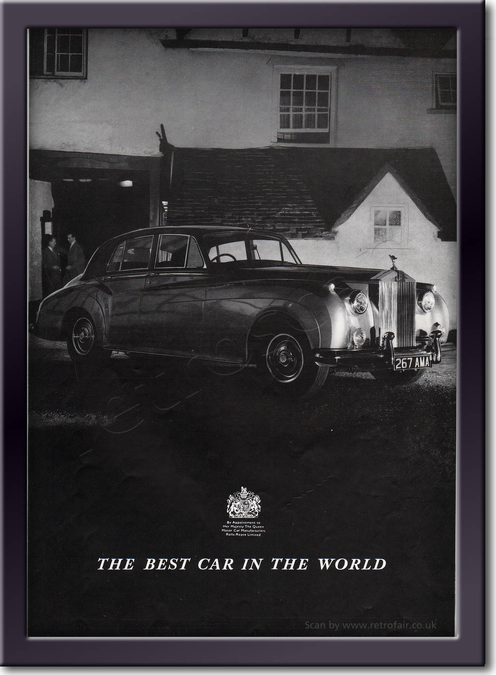 1958 Rolls Royce - framed preview retro