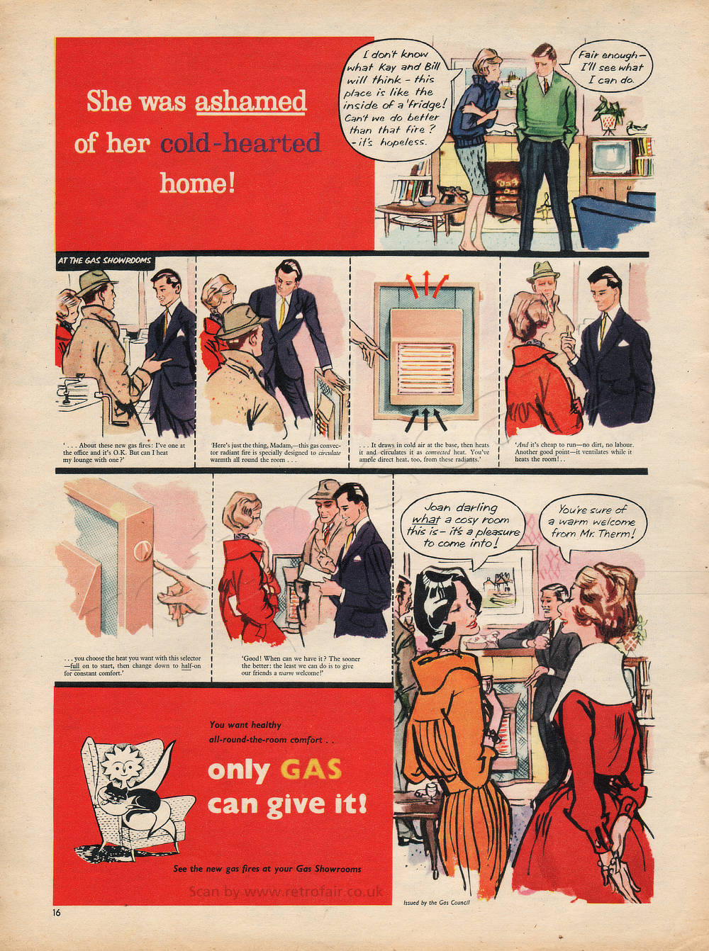 1959 Gas Council - unframed vintage ad