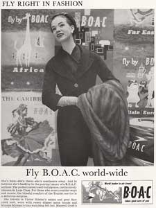 1958 British Overseas Airline Corp. (BOAC) - vintage ad
