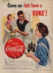 1954 Coca Cola 'Painting' UK