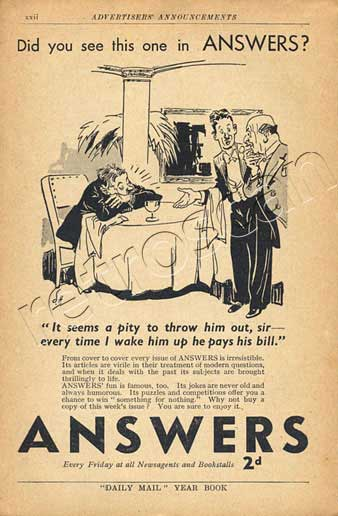 1939 Answers Magazine - unframed