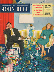1955 December John Bull Vintage Magazine Christmas day snooze