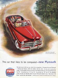 1949 Plymouth advert