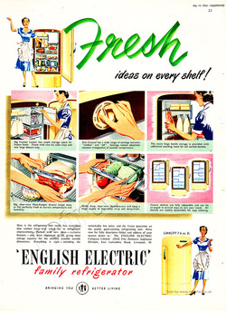 1952 English Electric - unframed vintage ad