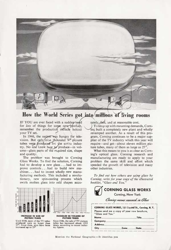 1953 Corning Glass vintage ad