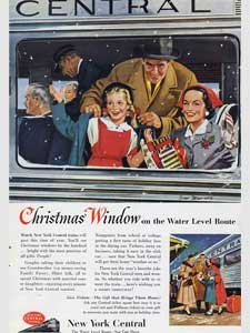 1953 New York Central Railway retro print ad