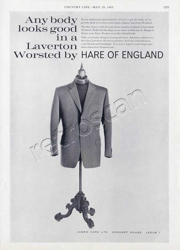 1965 James Hare vintage ad
