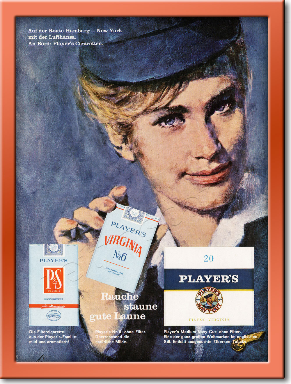 1964 Player's Cigarettes - framed preview retro